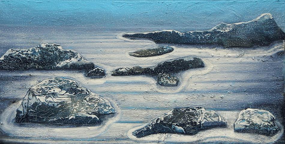 Iwa Kruczkowska first snow 100 x200 cm, 2017