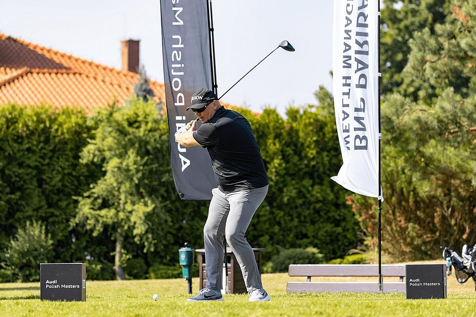 Szymon Ziółkowski podczas turnieju eliminacyjnego Audi Polish Masters Fot. Golf24